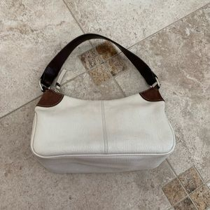 Dooney & Bourke white and tan leather should bag